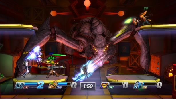 Eine Handvoll neue Screenshots zu [i]Playstation All-Stars Battle Royal[i] zeigen Cyborg Ninja Raiden und die [i]Ape Escape[i]-Stage in Aktion.